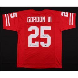 "Melvin Gordon Signed Jersey Inscribed ""On Wisconsin"" (Radtke COA)"