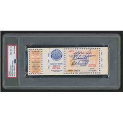 """Nolan Ryan Signed Authentic 1973 All-Star Game Ticket Inscribed """"H.O.F. '99"""" (PSA Encapsulated)"""