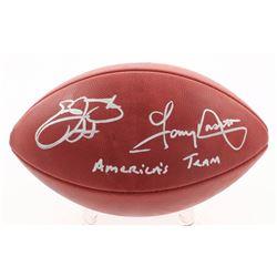 """Emmitt Smith  Tony Dorsett Signed """"The Duke"""" Official NFL Game Ball Inscribed """"America's Team"""" (Beck"""