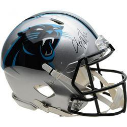 Christian McCaffrey Signed Carolina Panthers Full-Size Authentic On-Field Helmet (Fanatics Hologram)