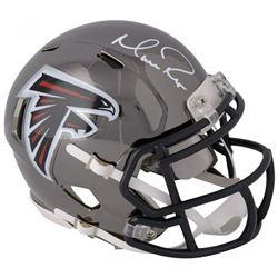 Matt Ryan Signed Atlanta Falcons Chrome Speed Mini Helmet (Fanatics Hologram)