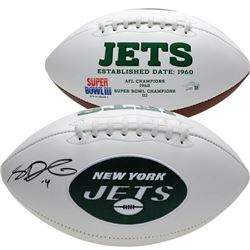 Sam Darnold Signed New York Jets Logo Football (Fanatics Hologram)