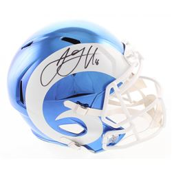 Jared Goff Signed Los Angeles Rams Full-Size Chrome Speed Helmet (Fanatics Hologram)