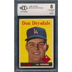 1958 Topps #25 Don Drysdale (BCCG 8)