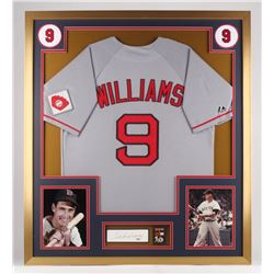 Ted Williams Signed Boston Red Sox 32x36 Custom Framed Cut Display (PSA Hologram)