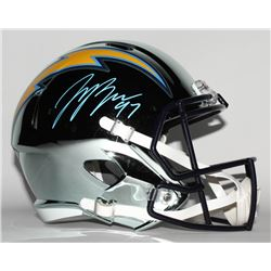 Joey Bosa Signed Los Angeles Chargers Full-Size Chrome Speed Helmet (JSA COA)