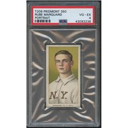 1909-11 T206 #305 Rube Marquard / Portrait (PSA 4)