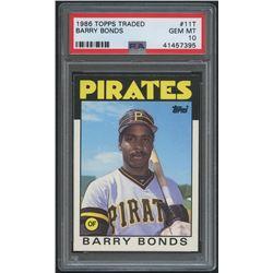 1986 Topps Traded #11T Barry Bonds XRC (PSA 10)