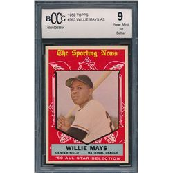 1959 Topps #563 Willie Mays All-Star (BCCG 9)