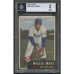 1953 Topps #244 Willie Mays (BGS 2)