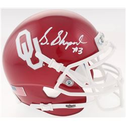 Sterling Shepard Signed Oklahoma Sooners Mini Helmet (JSA COA)