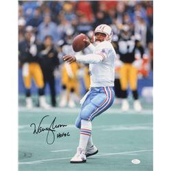 """Warren Moon Signed Houston Oilers 16x20 Photo Inscribed """"HOF 06"""" (JSA COA)"""