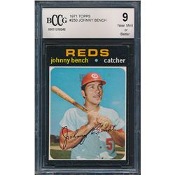 1971 Topps #250 Johnny Bench (BCCG 9)