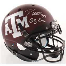 "Dante Hall Signed Texas AM Aggies Full-Size Authentic On-Field Helmet Inscribed ""Gig Em"" (Radtke COA"