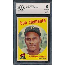 1959 Topps #478 Roberto Clemente (BCCG 8)