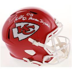 "Dante Hall Signed Kansas City Chiefs Full-Size Speed Helmet Inscribed ""OG Human Joystick"" (Radtke CO"