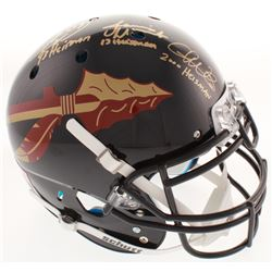 Chris Weinke, Jameis Winston  Charlie Ward Signed Florida State Seminoles Authentic On-Field Helmet