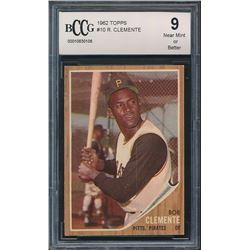 1962 Topps #10 Roberto Clemente (BCCG 9)