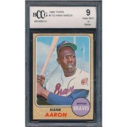 1968 Topps #110 Hank Aaron (BCCG 9)