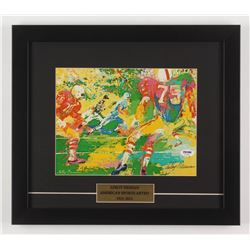 LeRoy Neiman Signed 14.5x16.5 Custom Framed Print Display (PSA COA)