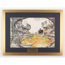 "LeRoy Neiman ""Sandy Koufax vs. Mickey Mantle"" 19x25 Custom Framed Print Display"