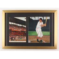 Stan Musial Signed LE St. Louis Cardinals 17x24 Custom Framed Print Display with Scorecard (PSA COA)