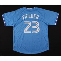 Cecil Fielder Signed Jersey (JSA COA)