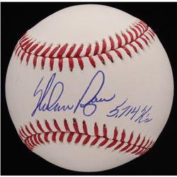 """Nolan Ryan Signed OML Baseball Inscribed """"5,714 K's"""" (Radtke COA  Ryan Hologram)"""