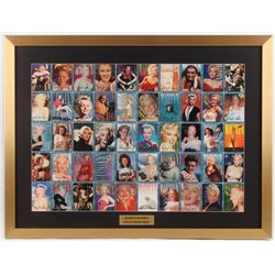 Marilyn Monroe 23.5x31 Custom Framed Uncut Proof Sheet of (50) Cards