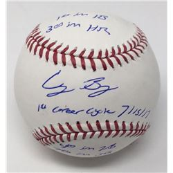 Cody Bellinger Signed LE OML Baseball with (5) Career Stat Inscriptions (MLB Hologram  Fanatics Holo