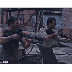 """Norman Reedus  Andrew Lincoln Signed """"The Walking Dead"""" 11x14 Photo (PSA COA)"""