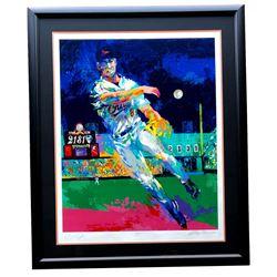 Leroy Neiman  Cal Ripken Jr. Signed LE 40x47 Custom Framed Serigraph Display (Beckett LOA)