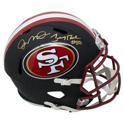 Joe Montana  Jerry Rice Signed San Francisco 49ers Full-Size Matte Black Speed Helmet (JSA COA)