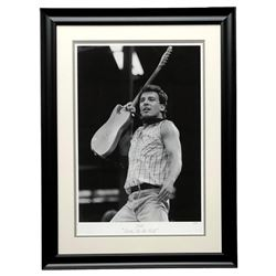 """The Hulton Archive - Bruce Springsteen """"Born in the USA"""" Limited Edition 16.5x22.5 Custom Framed Fin"""