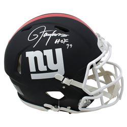 "Lawrence Taylor Signed New York Giants Full-Size Matte Black Speed Helmet Inscribed ""HOF 99"" (JSA CO"