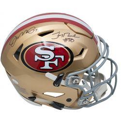 Joe Montana  Jerry Rice Signed San Francisco 49ers Full-Size Authentic On-Field SpeedFlex Helmet (JS