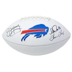 Jim Kelly, Andre Reed  Thurman Thomas Signed Buffalo Bills Logo Football (JSA COA)