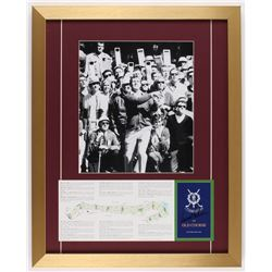 Arnold Palmer Signed Official St.Andrews 18x22.5 Custom Framed Scorecard Display (PSA LOA)