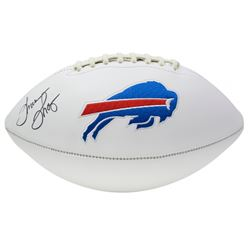 Thurman Thomas Signed Buffalo Bills Logo Football (JSA COA)