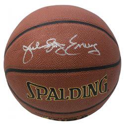 """Julius """"Dr. J"""" Erving Signed NBA Basketball (JSA COA)"""
