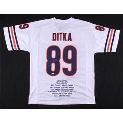 Mike Ditka Signed Career Highlight Stat Jersey (JSA COA)
