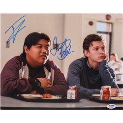 "Tom Holland  Jacob Batalon Signed ""Spider-Man: Homecoming"" 11x14 Photo (PSA COA)"