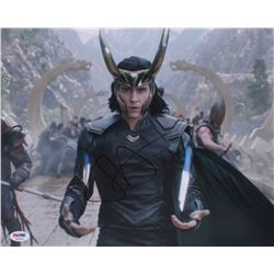 "Tom Hiddleston Signed ""Thor: Ragnarok"" 11x14 Photo (PSA COA)"