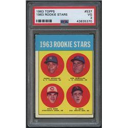 1963 Topps #537 Rookie Stars / Pete Rose RC (PSA 3)