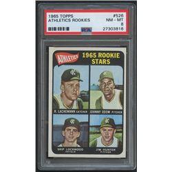 "1965 Topps #526 Rookie Stars / Jim ""Catfish"" Hunter RC (PSA 8)"