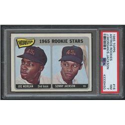 1965 Topps #16 Rookie Stars / Joe Morgan RC (PSA 7)