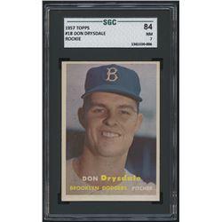 1957 Topps #18 Don Drysdale RC (SGC 7)