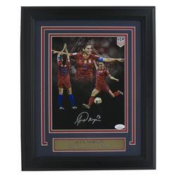 Alex Morgan Signed Team USA Soccer 11x14 Custom Framed Photo Display (JSA COA)