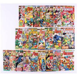 """Lot of (23) 1973-76 """"The Avengers"""" #116-#148 Marvel Comic Books"""