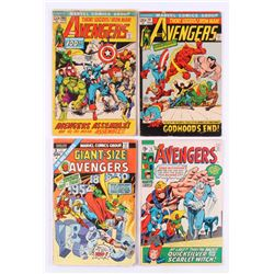 """Lot of (4) 1970-72 """"The Avengers"""" Marvel Comic Books with #75, #97, #100,  Annual #3"""